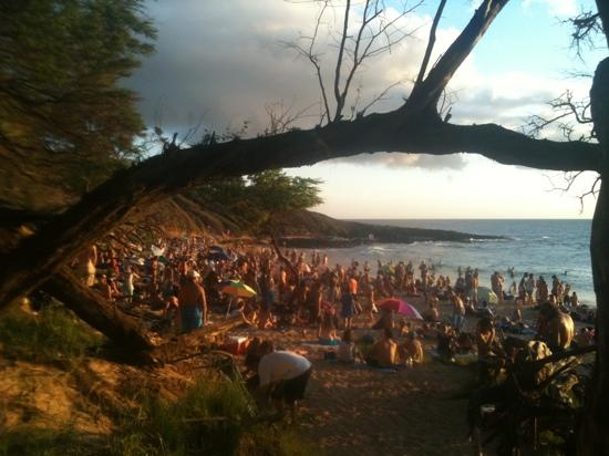 Sunday Drum Circle & Dance Party - Picture of Little Beach, Wailea