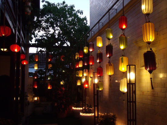Ha An Hotel: Lanterns outside our room