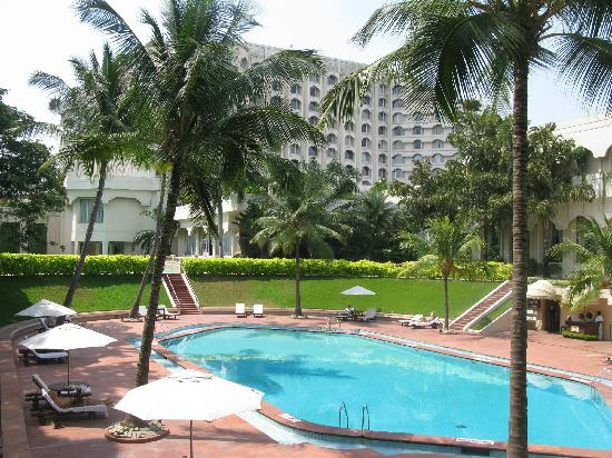 Garden And Swimming Pool Hotel In The Back Picture Of Taj Krishna Hyderabad Hyderabad