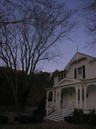 Orchard House Bed and Breakfast: Moon going down, early morning at the bed and breakfast