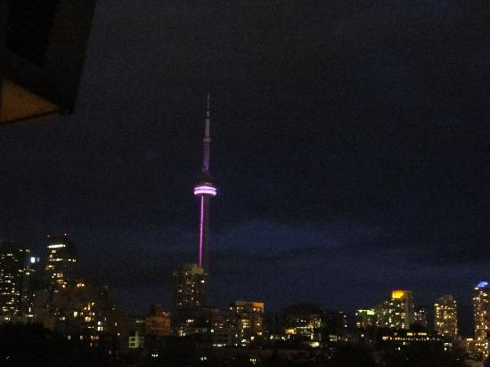 Alexandra Hotel: Toronto Skyline aus unserem Hotelzimmer