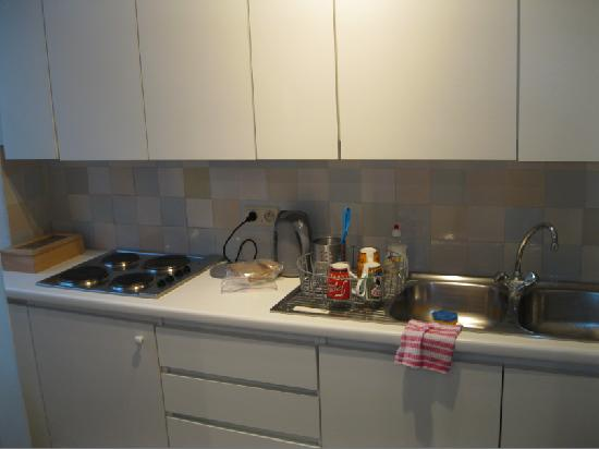 Ridderspoor Holiday Flats: Damme kitchen - also has coffee maker and fridge