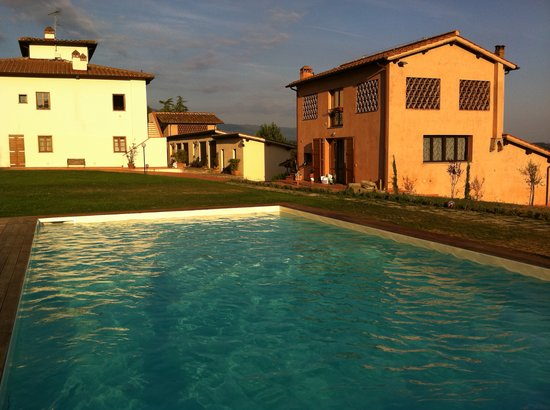 Borgo di Casagrande: View of the Borgo from the pool.