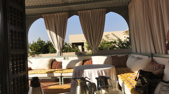 Riad Kniza: Rooftop  for Breakfast and Dinner