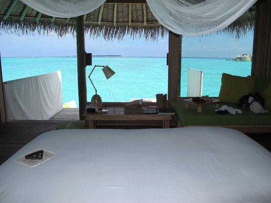 Six Senses Laamu: view from our bed