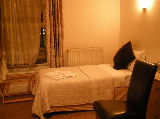 Hagley Court Hotel: Room 4 single bed