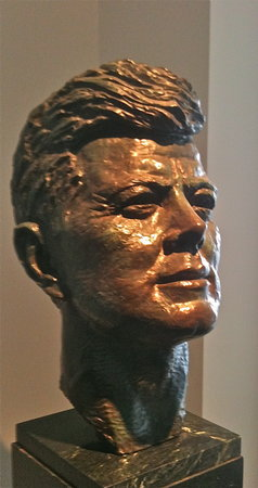 John F. Kennedy in bronze