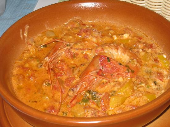 Firostefani, Greece: Prawns Saganaki