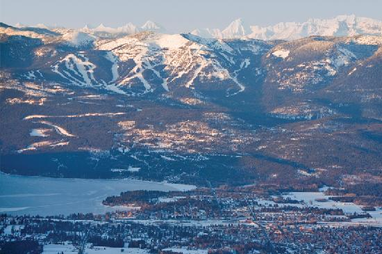 Aerial view of Whitefish ( ChuckHaney.com / Whitefish CVB)
