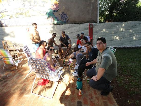 Hostel Park Iguazu: con los chicos de israel