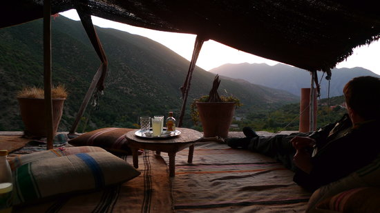 Ouirgane, Morocco: G&T with sunset (take your own booze!)