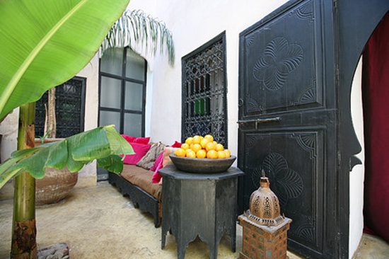 Riad Tibibt: patio