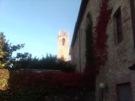view from the garden of Hotel Monteriggioni -