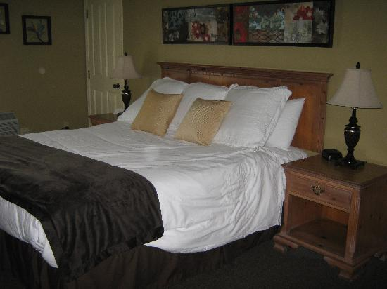 Sea Pines Golf Resort: The bed looked better when we got there. I made it for the picture.