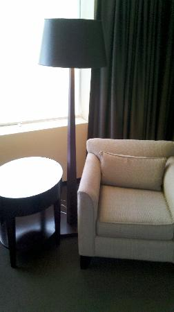 The Westin Edmonton: Arm chair, table and lamp