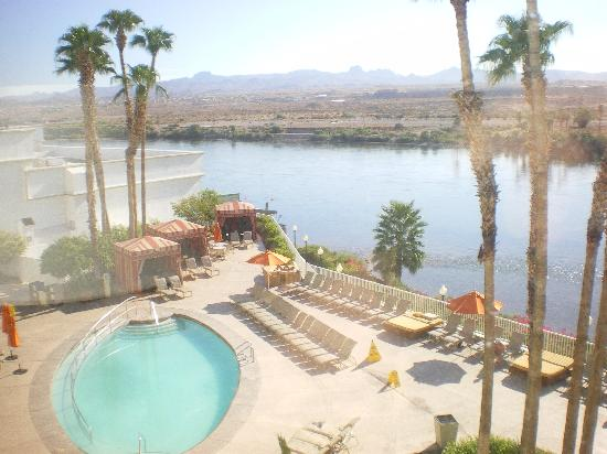 The Pool From Our Window Picture Of Golden Nugget Laughlin Laughlin Tripadvisor