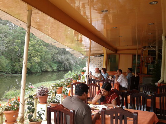 Archana Residency Munnar: river side restaurant