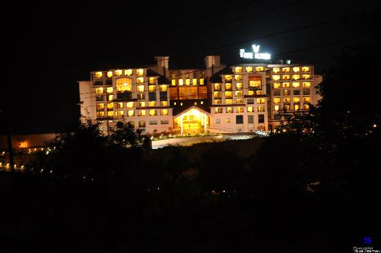 The White Hotels: Night View of Lobby.