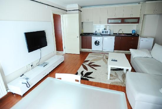 Akin Suites Istanbul: Deluxe Suite-2: Open plan living room