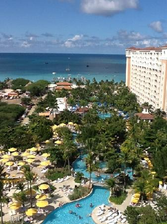 Marriott's Aruba Surf Club: view from the 14th floor of spyglass tower