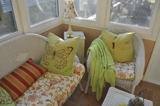 A ParkView Bed & Breakfast: A portion of the bright sunroom.