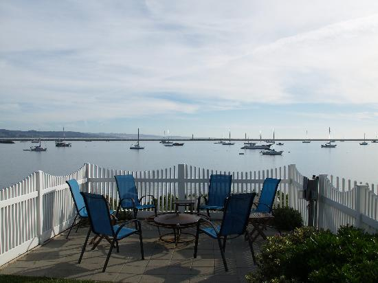 The Inn at Mavericks: views from fire pit/gathering area