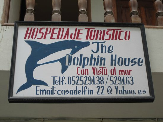 The Dolphin House: Front Sign