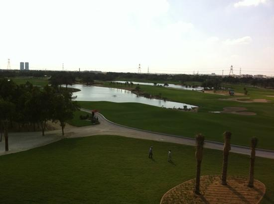 The Westin Abu Dhabi Golf Resort & Spa: our view from the room. all rooms face the golf course