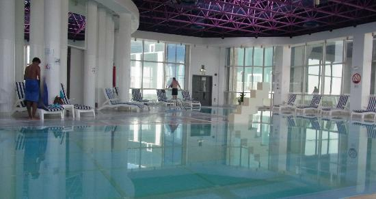 Hilton Baynunah hotel indoor pool Abu Dhabi