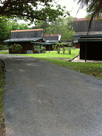 Kota Tinggi, Malasia: Roads connecting the chalets