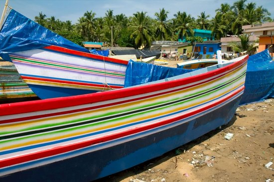 Palmleaves Beach Resort: Boats at the fishmarkets