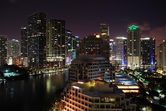 Mandarin Oriental, Miami: View from the room by night