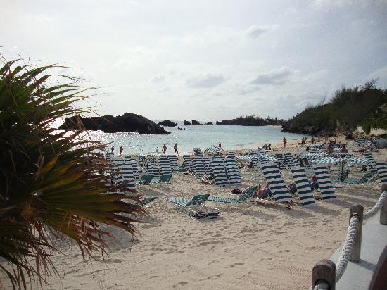 The Fairmont Southampton: Private beach club