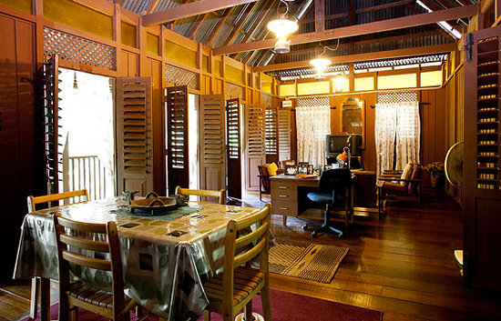 The Kebun: Main Living Area inside Adrian&#39;s Bungalow