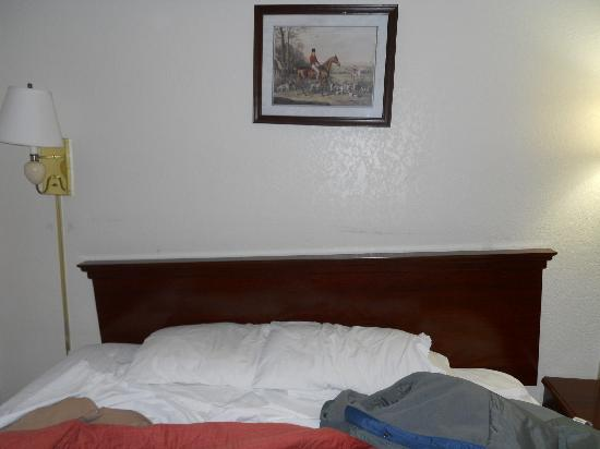 Super 8 Williamsburg/Historic Area: Headboard collapsed as soon as we touched the bed