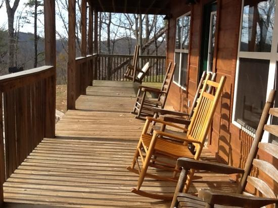 Volunteer Cabin Rentals: back porch
