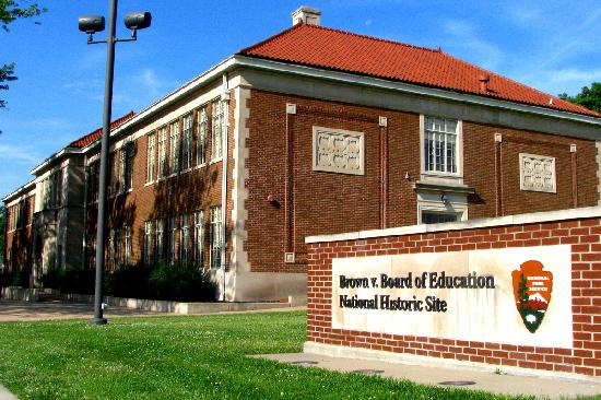Topeka, KS: The Brown v. Board of Education National Historic Site and Museum traces the 1954 Supreme Court