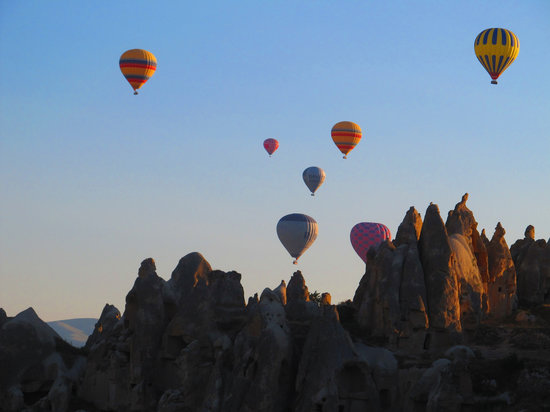 we were 13 in one basket! - Picture of Goreme Balloons ...