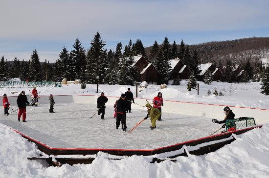 Chalets Royal Laurentien: patinoire Royal Laurentien