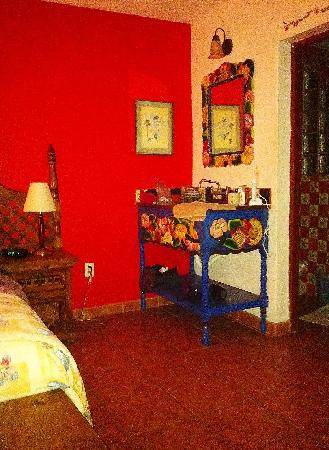 Part of my room at Loro de Oro Inn
