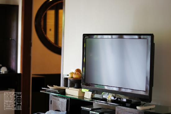 Barong Resort and Spa: Flat screen tv for villa #1 (newly renovated)