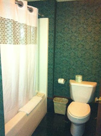 Fairbanks Inn: Bathroom attached to the living area of the Honeymoon Suite.