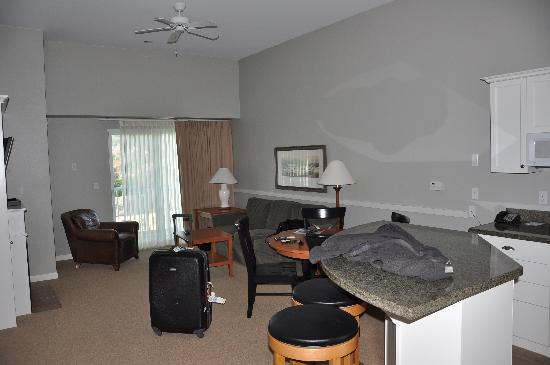 Rivertide Suites: Living area