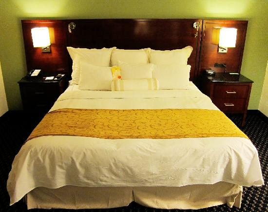 Ann Arbor Marriott Ypsilanti at Eagle Crest: Nice bed, slept well here.