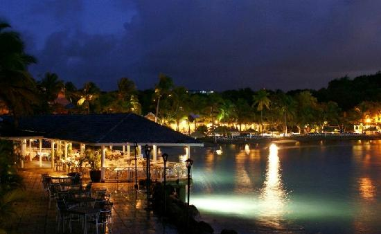 Cap Estate, St. Lucia: View of The Cove from the wedding pavilion