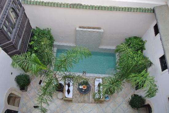 Riad Kheirredine: Patio dalla terrazza