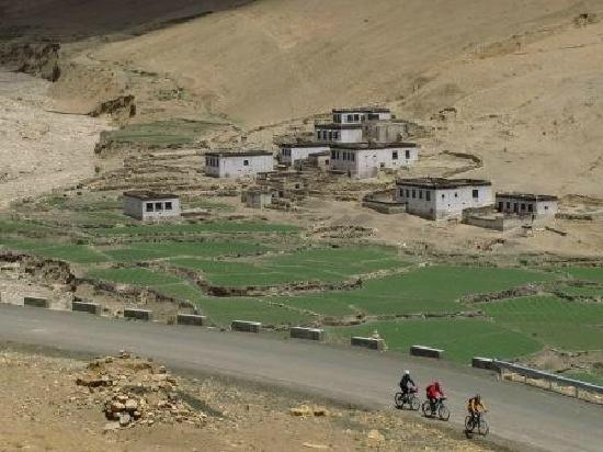 Tingri County, China: passing a Tibetan village enroute to Everest base camp @ Tibet