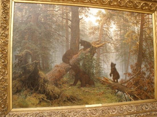 Mosca, russia: &;morning in a pine forest&; by ivan shishkin, 1889