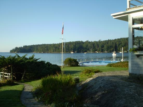 Linekin Bay Resort: View of the bay from the grounds