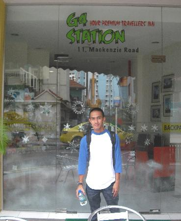 G4 Station: in front of G4 (my husband)